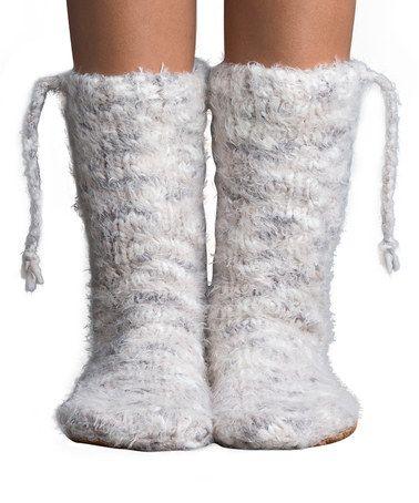 Another great find on #zulily! Vanilla Cream Teton Village Mukluk Slipper Socks…