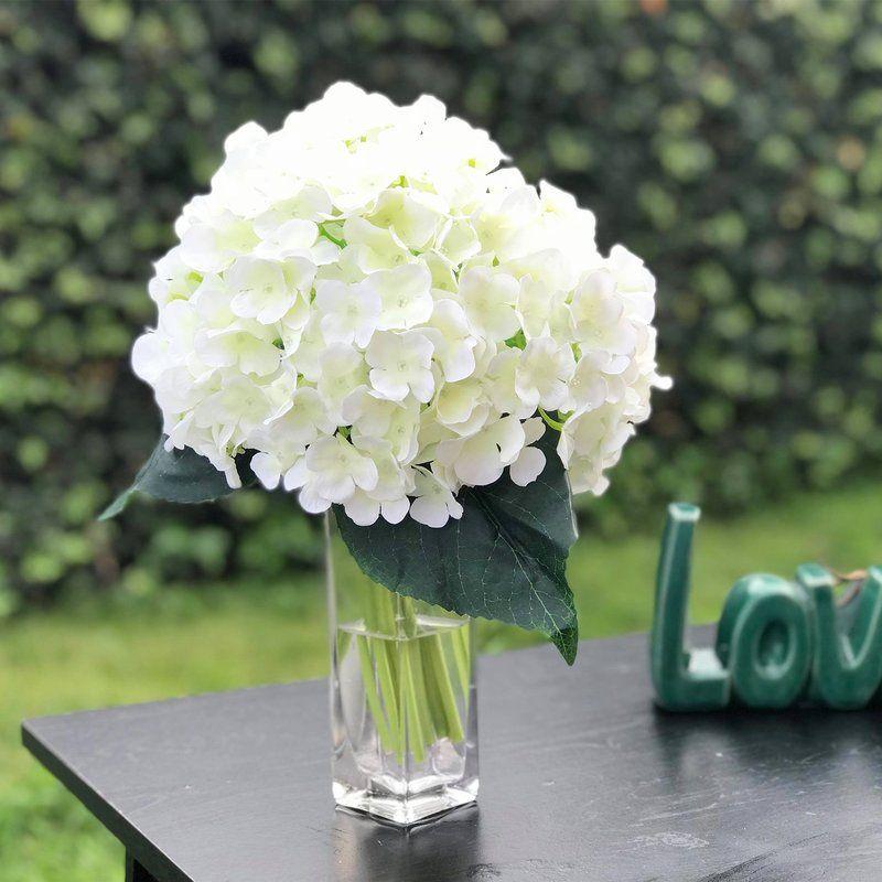 Hydrangea Floral Arrangement In Vase Artificial Floral Arrangements Artificial Hydrangeas Artificial Hydrangea Flowers