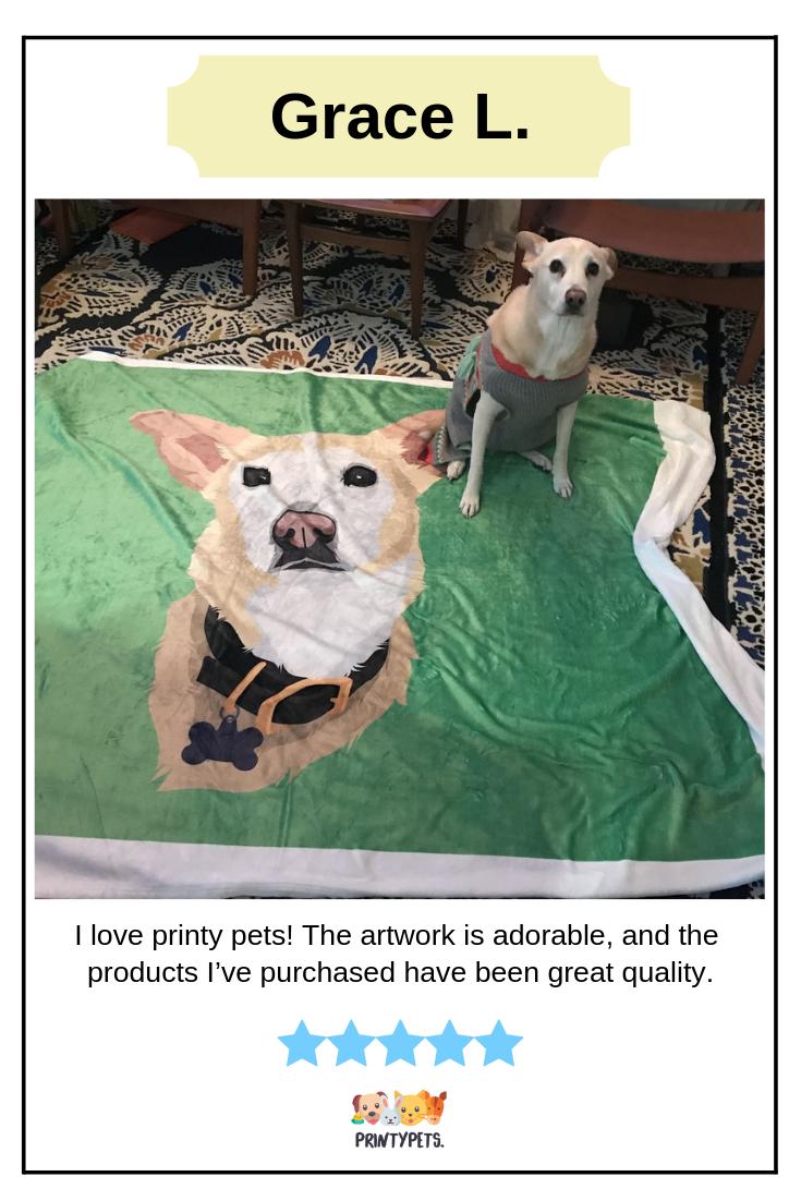 Grace L Review For Custom Pet Print Fleece Blanket Fleeceblanket Petlovers Printypets Happy Customers Pets Greatful