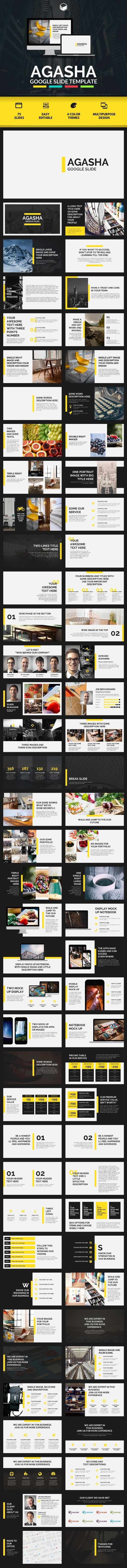 AGASHA - Google Slide Template - #Google #Slides #Presentation #Templates Download here: https://graphicriver.net/item/agasha-google-slide-template/16812960?ref=alena994