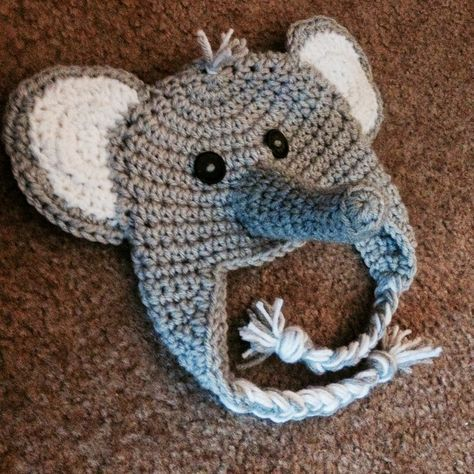 f5bf45c99d7 The View From My Hook  Free Pattern Friday  Ferdinand the Elephant Hat  (Newborn)