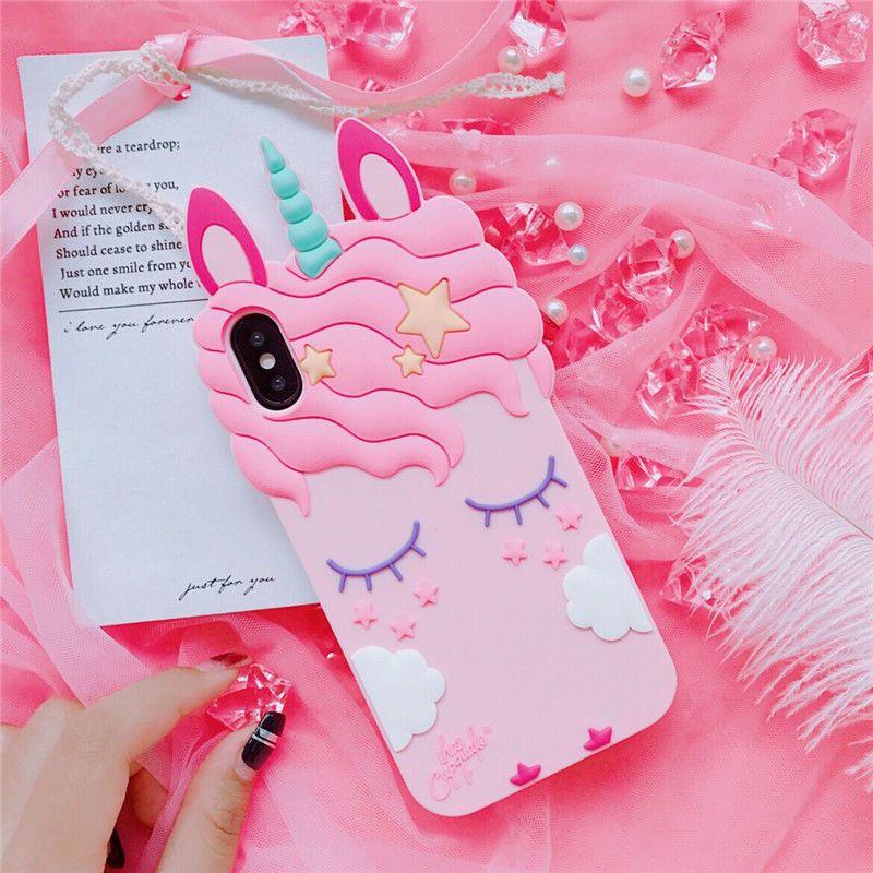 Hot Cute Cartoon Pink Sleep Unicorn Ear Soft Case Cover For Iphone X 6s 7 8 Plus Unicorn Iphone Case Kawaii Phone Case Unicorn Phone Case