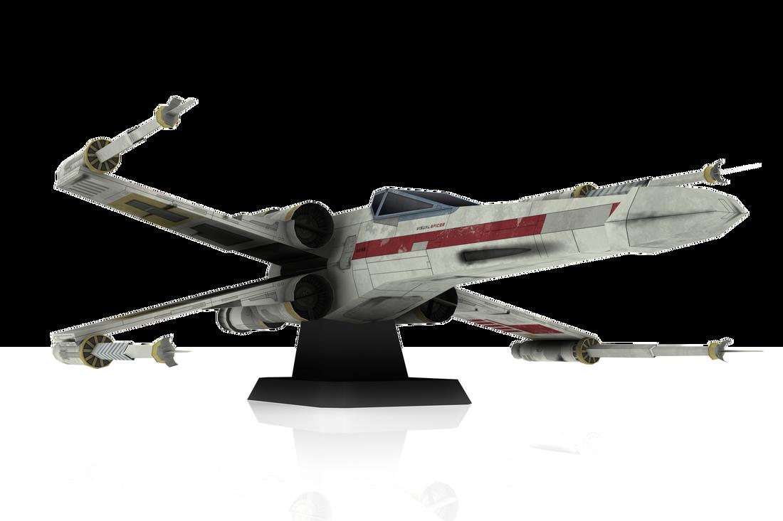 Starfighter X Diy Papercraft Model Star Wars Characters Clipart Star Wars Starfighter