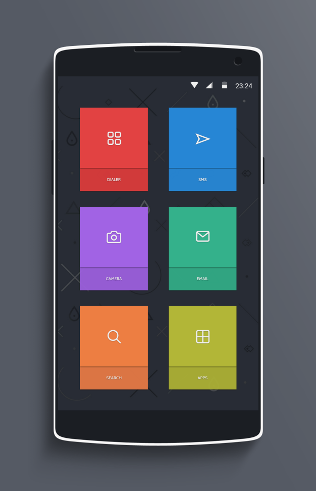 15 android iphone homescreens lockscreens android Home design android