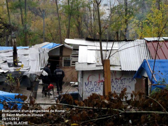 Démantèlement d'un campement de Roms (Isère) | Capturer l'instant