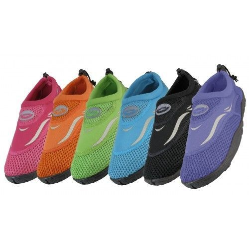 Womens Water Shoes Easy Usa Wave Neon Aqua Socks Beach Swim Exercise Dance New