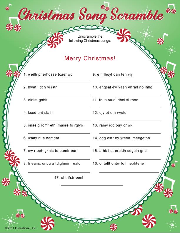 Christmas Song Scramble | Basteln Weihnachten | Pinterest ...