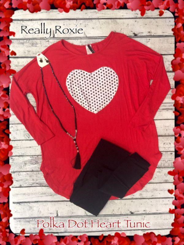 Polka Dot Heart Tunic