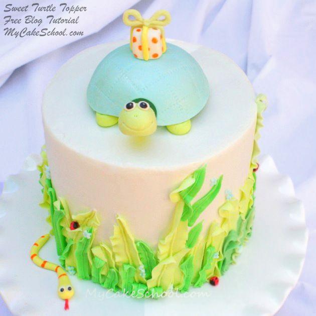 Sweet Turtle Cake Topper Free Cake Tutorial Turtle Free blog