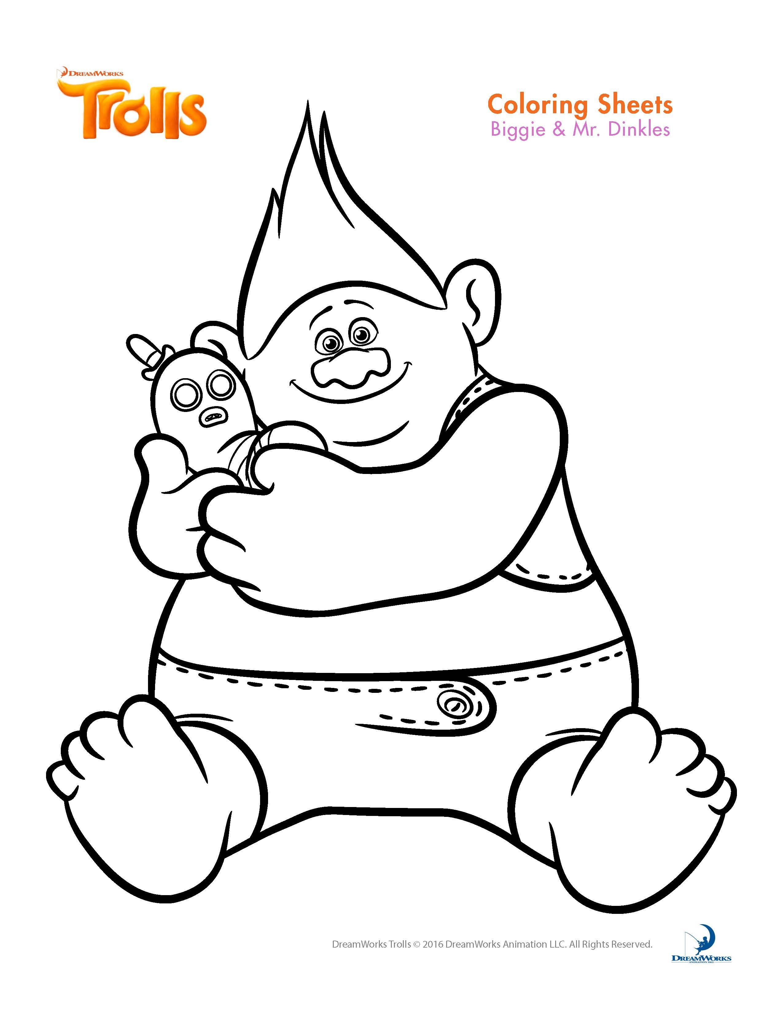 Trolls Mr Dinkles Coloring Pages