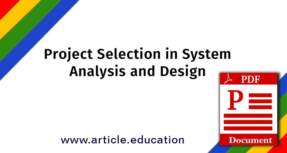 Project Selection In System Analysis And Design Tutorial Pdf Html For Beginners Introduction To Html Education Documentation