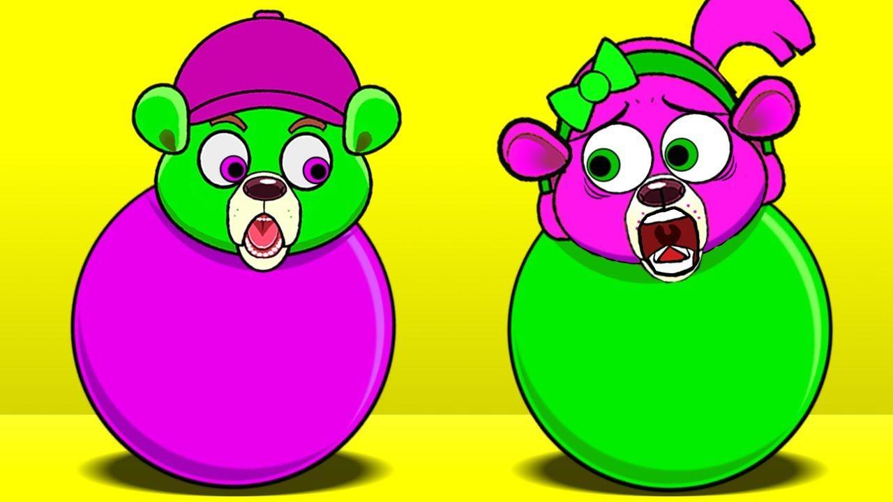 Mega Gummy Bear Learn Colors New Episodes! Finger Family Song ...