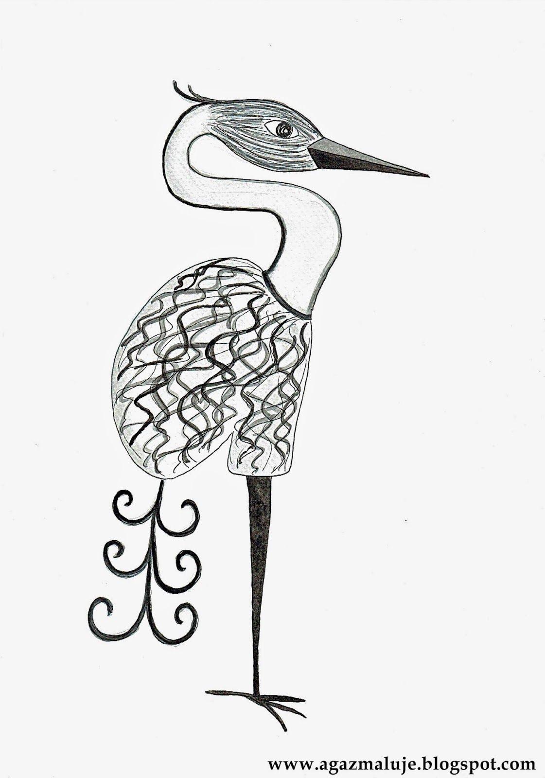 Obraz Na Sciane Czarno Bialy Ptak Akwarele Art Humanoid Sketch Photo And Video