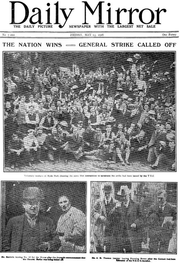 Daily Mirror 1926 Newspaper front pages, Newspaper cover