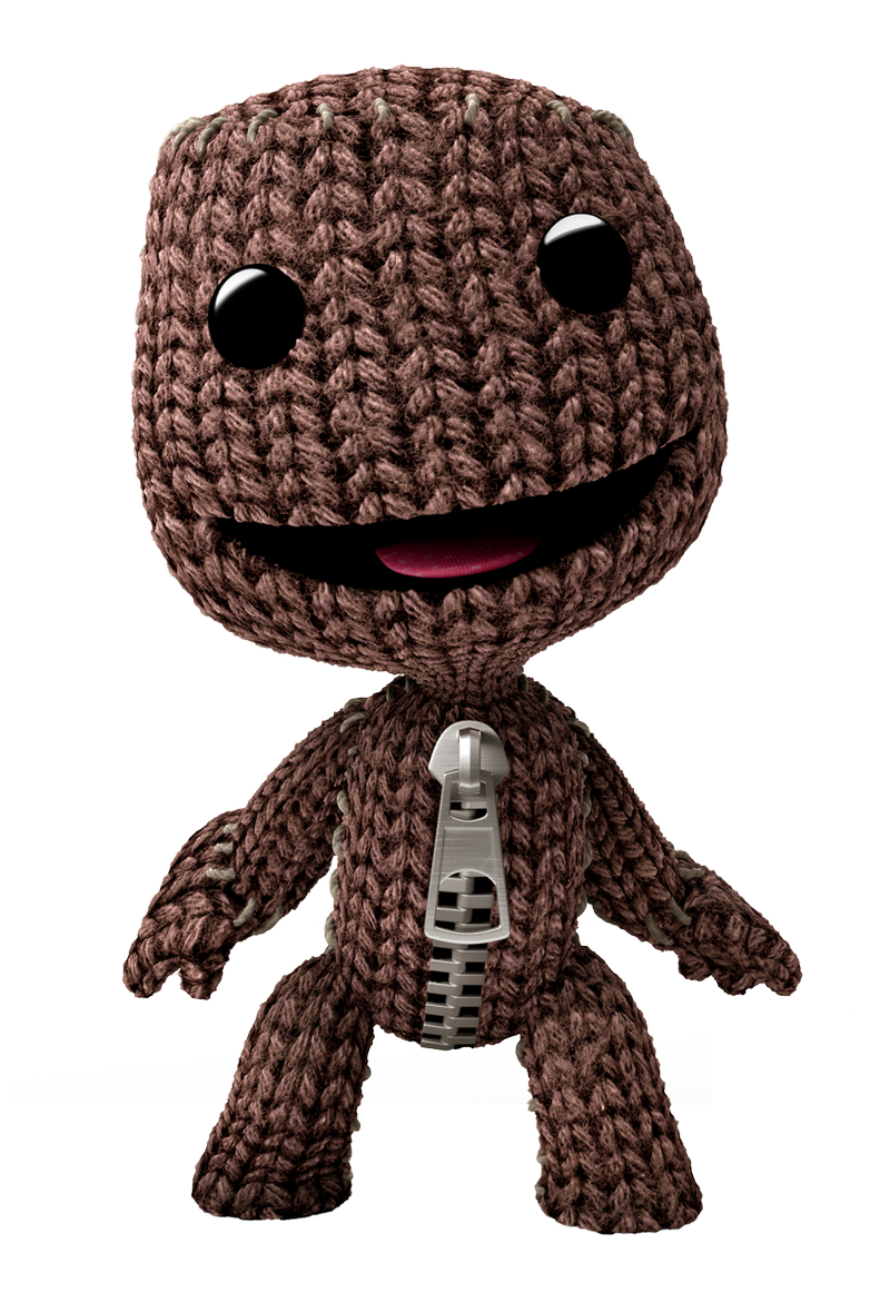 Sackboy from Little Big Planet - I kind of want to learn to knit ...