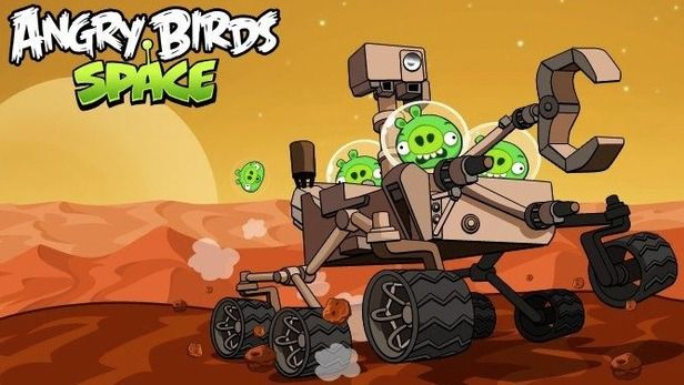 Angry Birds Go To Mars, Hijack the Curiosity Rover!