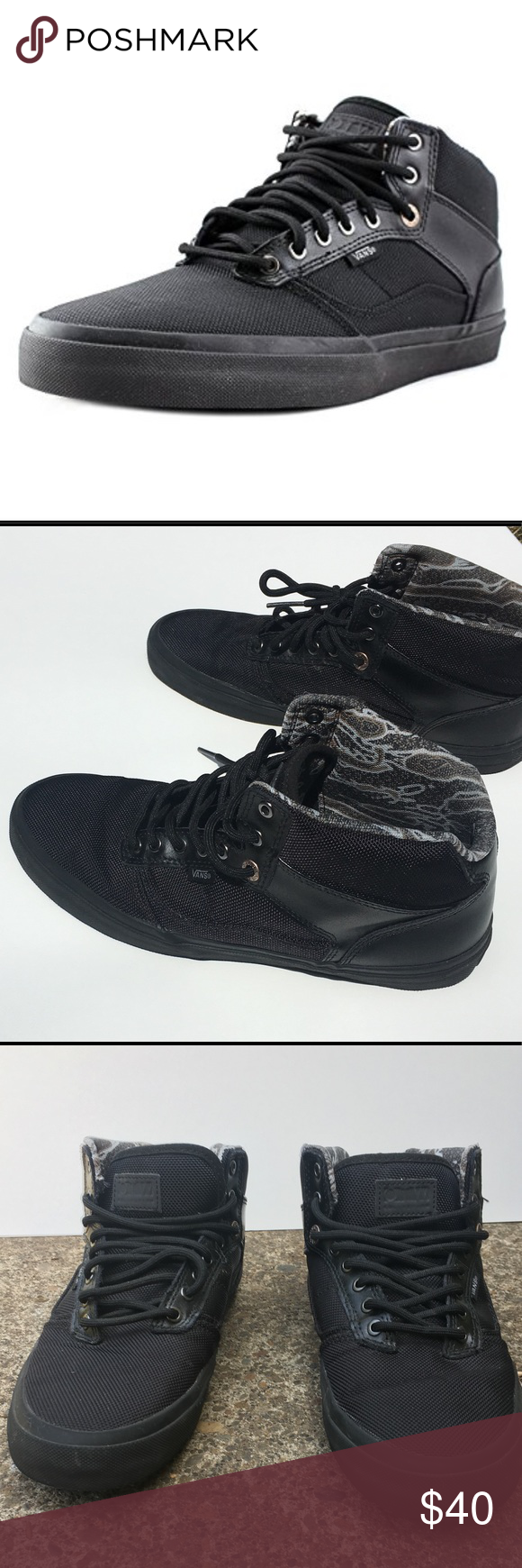 5ac704e9fa7ed2 Vans Bedford Tiger Clash Black Men s Shoes Vans Bedford Tiger Clash shoes.  Only worn twice and in great condition. Size 9 men s shoes.