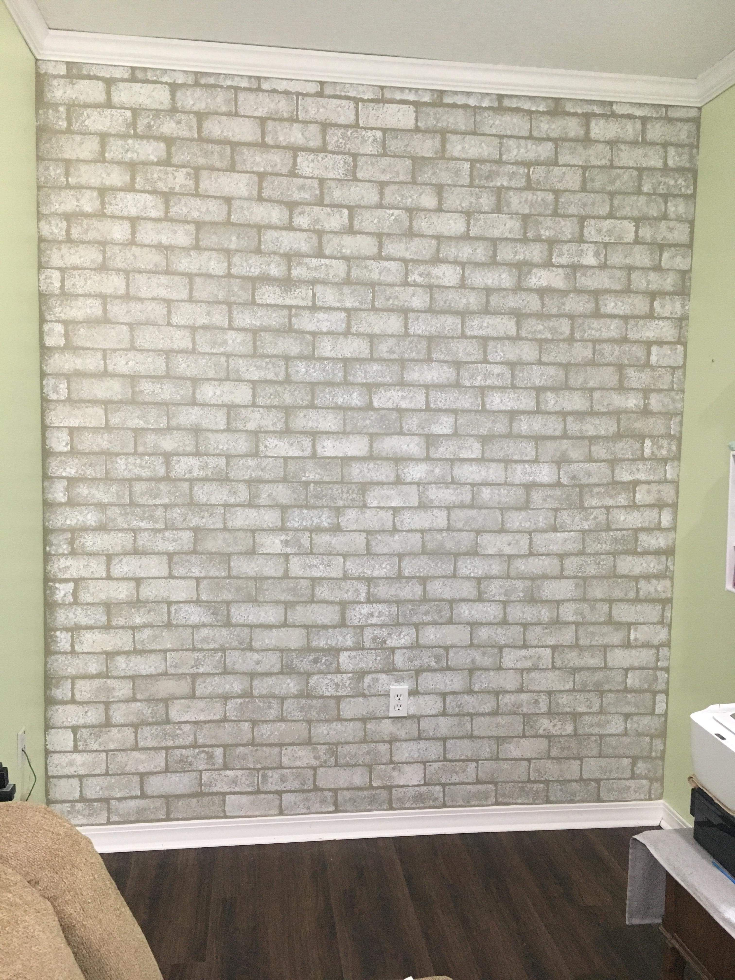 Accent Wall I Added In My Shabby Chic Sewing Craft Room Its Faux