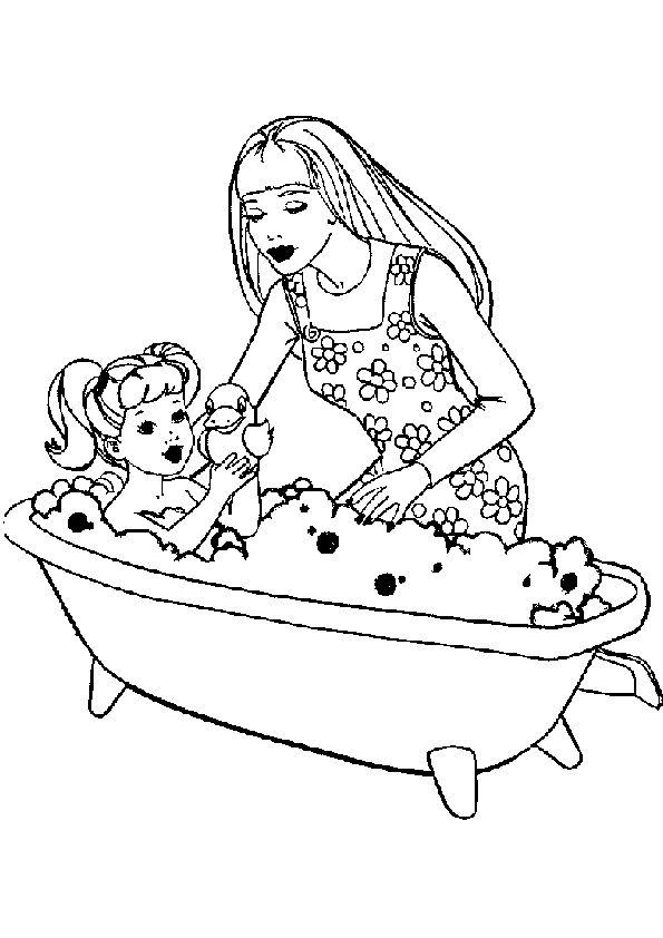 Best Barbie Coloring Pages 6 Jpg 595 842 Barbie Coloring