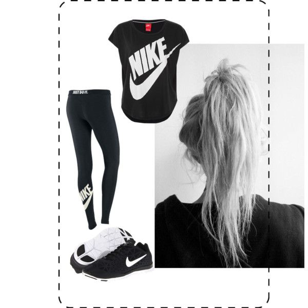 """nike workout outfit"" by sabrinamehrezi on Polyvore"