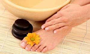 Groupon - $ 20 for Deluxe Manicure and Pedicure at Ema's Beauty Salon ($40 Value) in Miami. Groupon deal price: $20