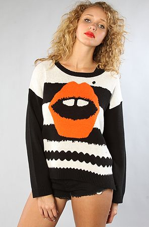 Mad Love  The Striped Lippy Sweater    Sale $81.95