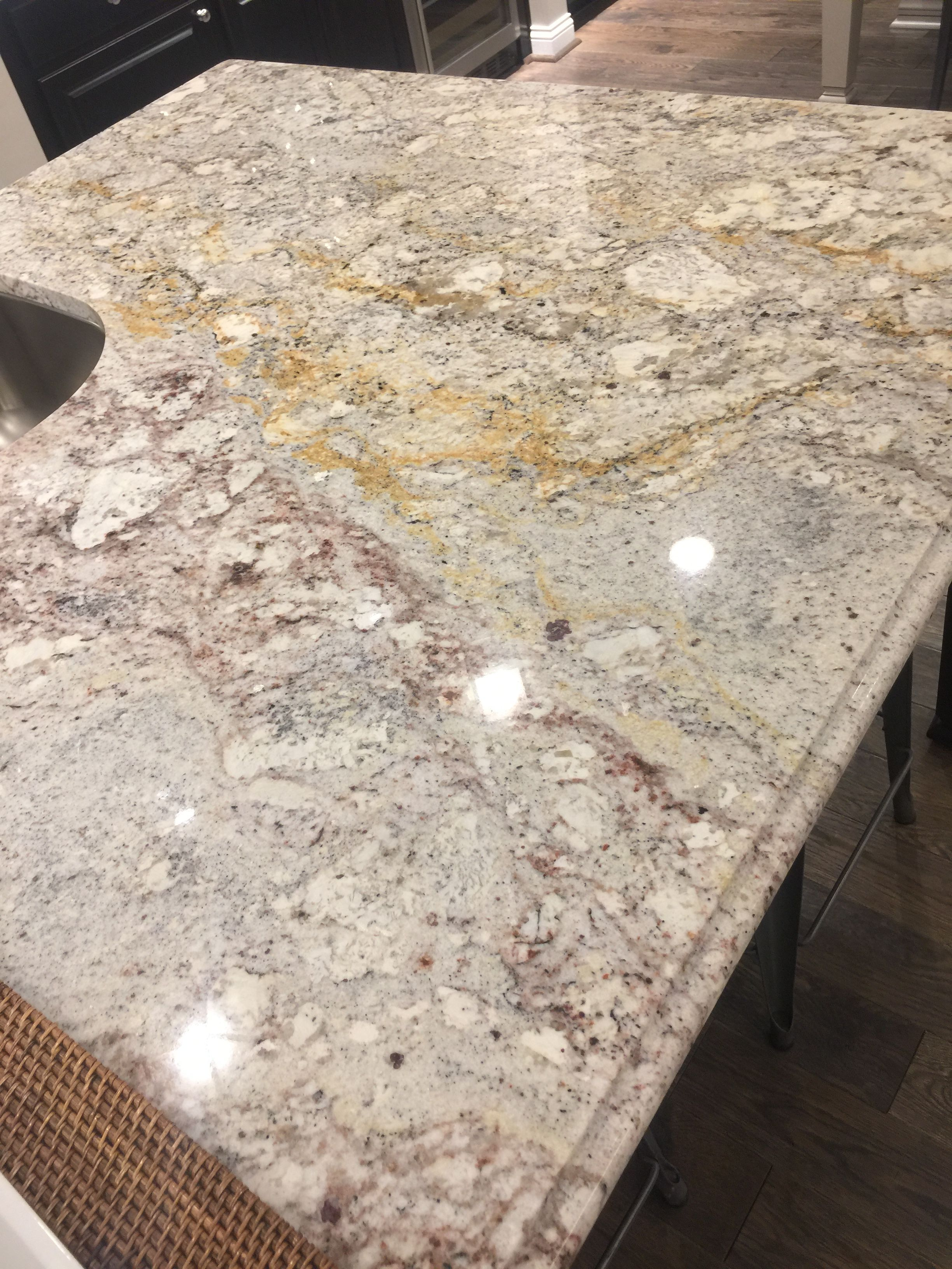 White Springs Granite Solid Surface Tops In White Kitchen