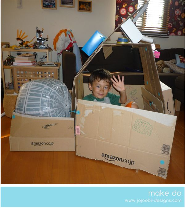 A Bit Of This and A Bit Of That: Make Do spaceship #makedo #imaginative play