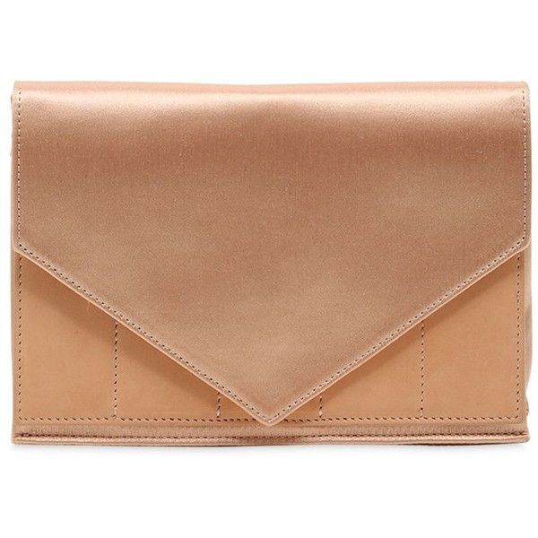 e35ba116ef1325 Micoli Women Silk Satin   Leather Envelope Clutch ( 545) ❤ liked on  Polyvore featuring