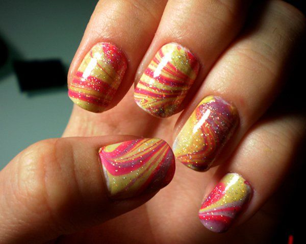 35 Water Marble Nail Art Designs Water Marble Nail Art Marble