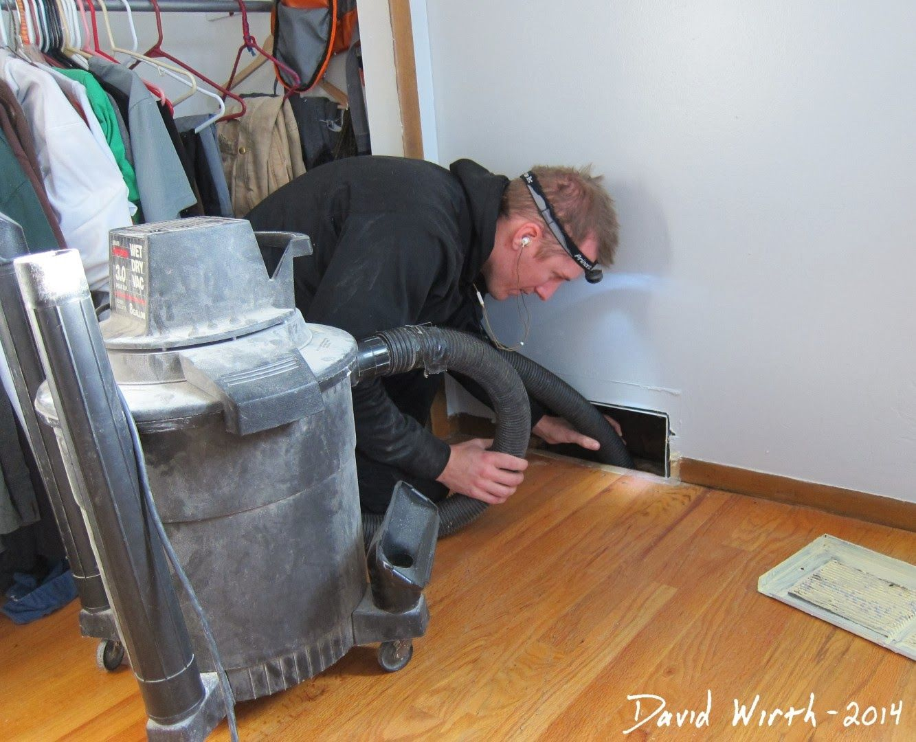 Vacuuming Out Heat Vents Air Vac Clean