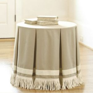 how to make round tablecloth for decorators table - Google Search