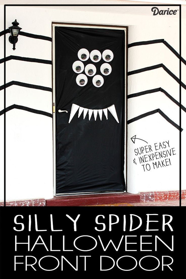 Halloween Door Decorations DIY Silly Spider - Darice Halloween - Halloween Door Decoration Ideas