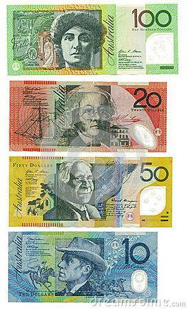 Australian Banknotes Bank Notes Dollar Banknote Image
