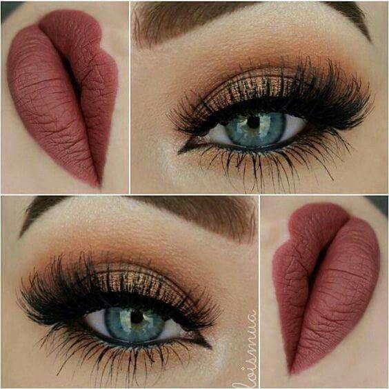 Maquillaje de ojos en tonos clidos Naranjacaf y dorado make
