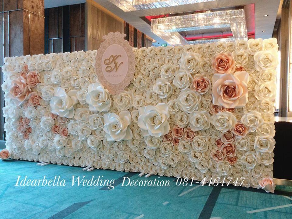 wedding paper flowers backdrop Wedding Decor Stage Backdrop