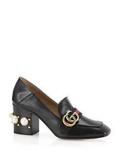 274288fe82f Gucci - Peyton Pearl-Heel Leather Loafers