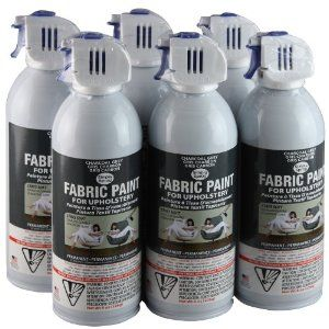 Simply Spray Upholstery Fabric Spray Paint 6 Pack Charcoal Grey Omg For 59 04 I Could Have A Br Fabric Spray Fabric Spray Paint Upholstery Fabric Spray Paint