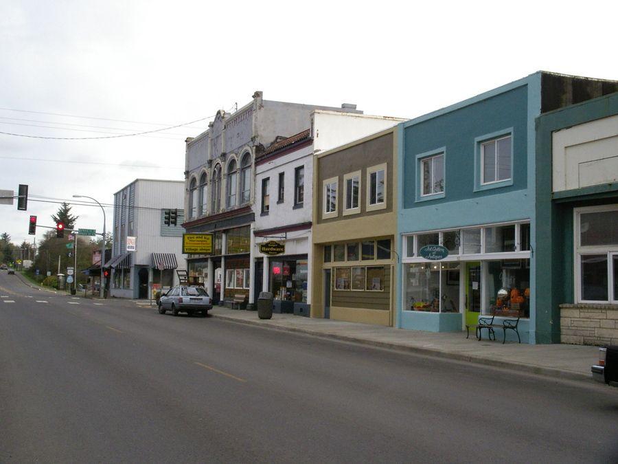 Downtown Ilwaco Washington