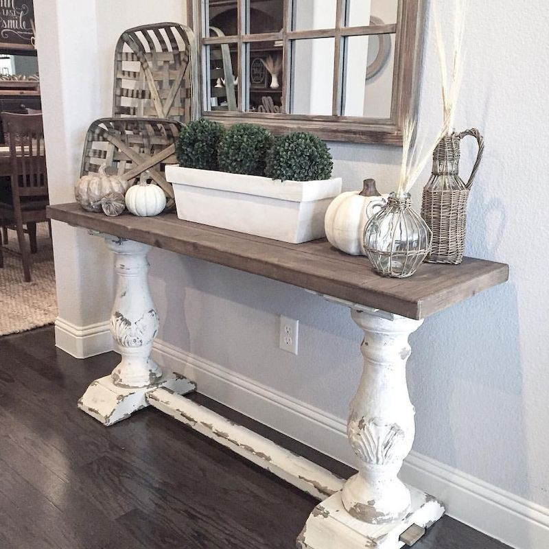 Entry Table Barnwood