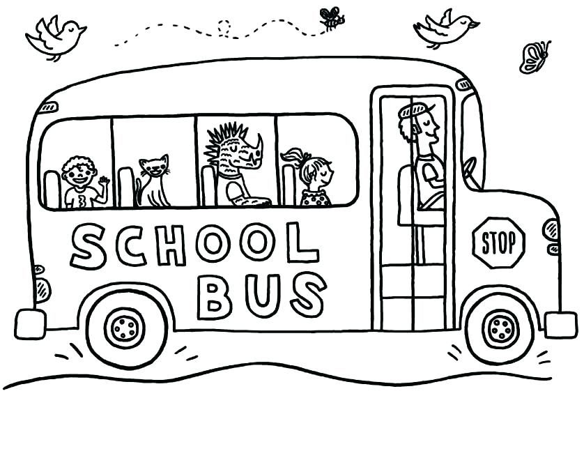 Bus Coloring Pages Kindergarten School Coloring Pages Gallery