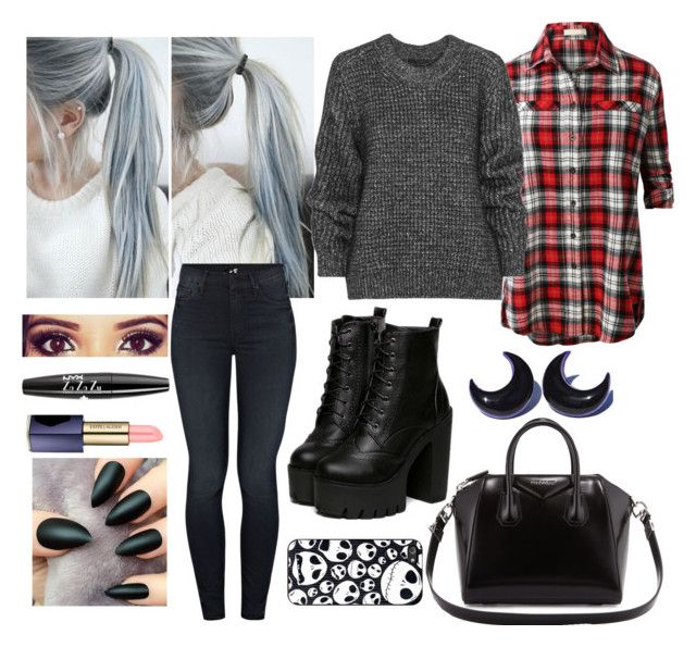 """"""":)"""" by teodora-ivanovic ❤ liked on Polyvore featuring ファッション, Givenchy, LE3NO, Belstaff, Mother, Estée Lauder, NYX, Boots, makeup と bag"""