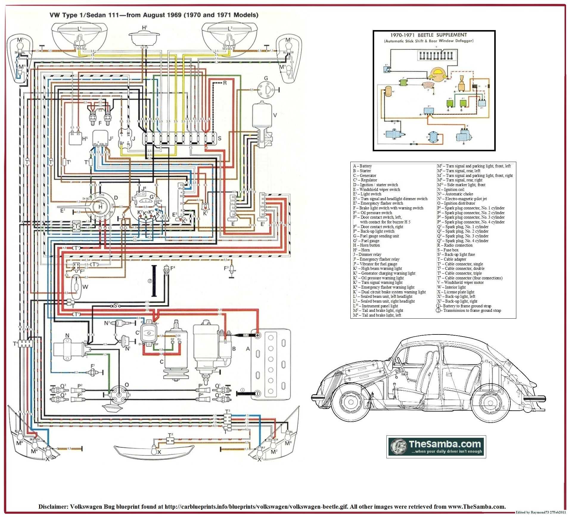 hight resolution of mexican vw beetle wiring diagram