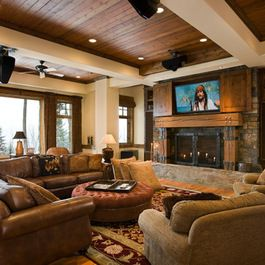 Rustic Fireplace Design Ideas Pictures Remodel And Decor Rustic Living Room Furniture Contemporary Rustic Living Room Modern Rustic Living Room