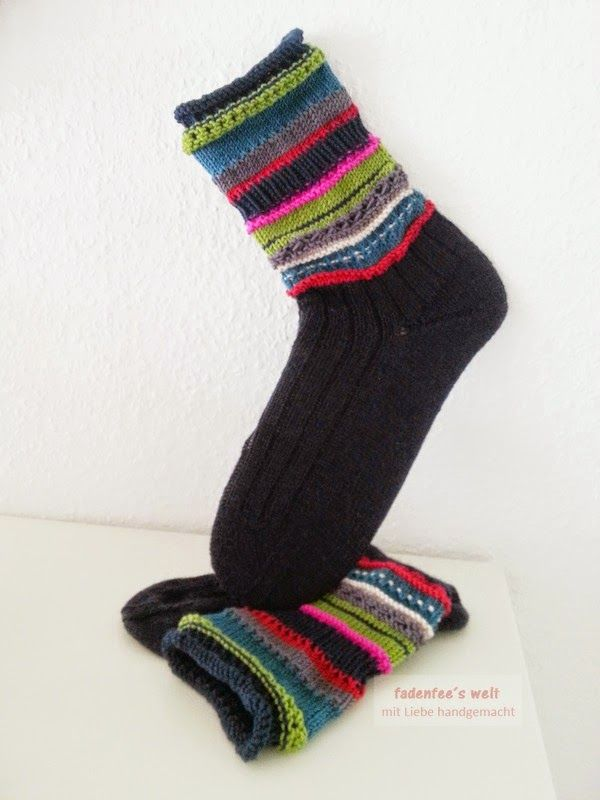 Socken zur Drachenfestjacke auf fadenfee.blogspot.de