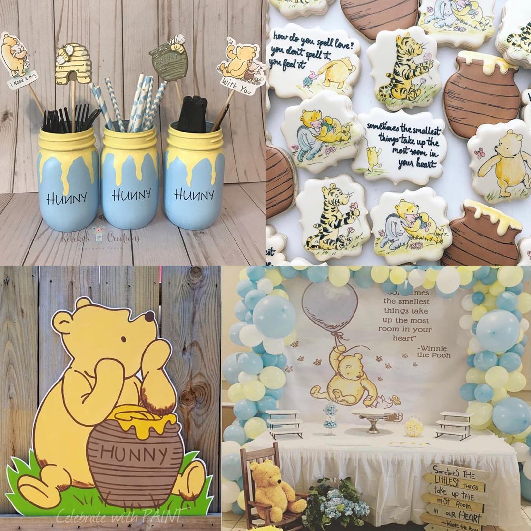 Planning A Classic Winnie The Pooh Baby Shower Classic Pooh Shower Winnie The Pooh Baby Showe Disney Baby Shower Baby Bear Baby Shower Boy Baby Shower Themes