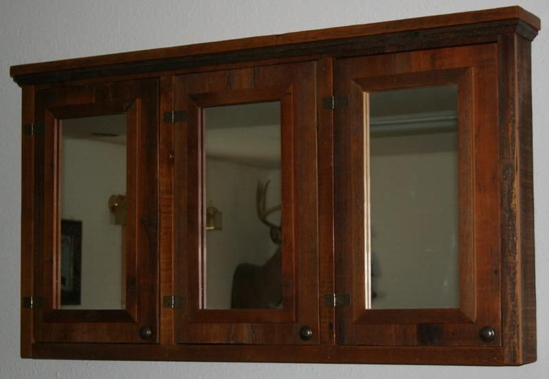 Barnwood Medicine Cabinet Master Bath Rustic Medicine
