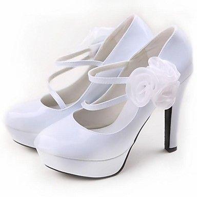 Women's Wedding Shoes Heels/Round Toe Heels Wedding Black/Red/White – CAD $ 83.39