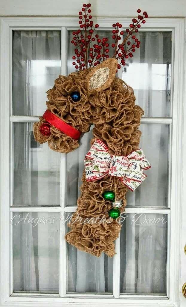 Photo of Angie's Wreaths & Decor #candycanewreath Angie's Wreaths & Decor
