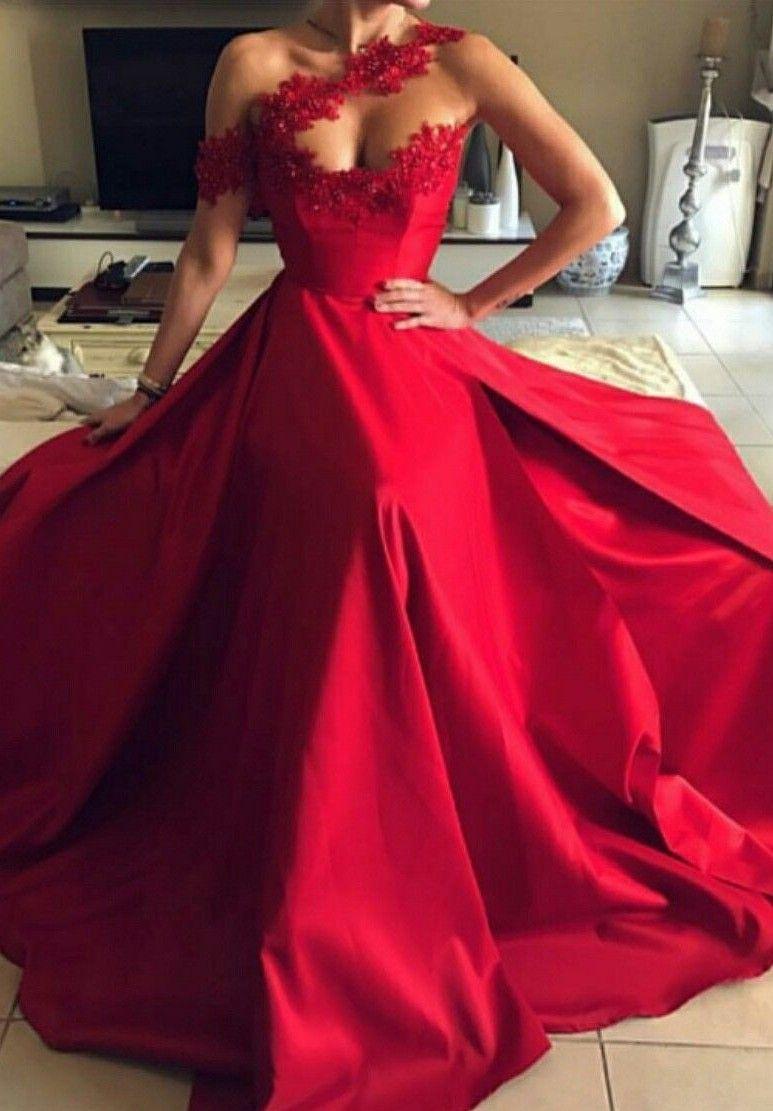 Modern Abendkleider Lang Rot  Abiballkleider Abendmoden Mit